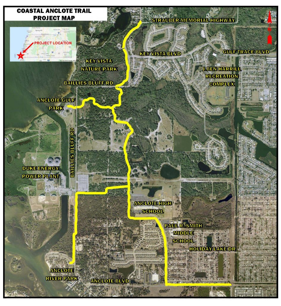 The Coastal Anclote Trail Map